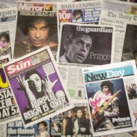 News articles denoting Prince's death leaving problems for absence of a will.