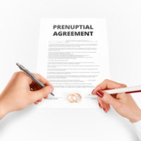 Drafting a pre-nuptial agreement in Illinois.