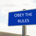 Obey the rules sign