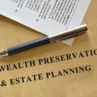 table that reads estate planning